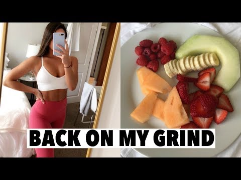 VLOG: getting back into routine, healthy eating & new workout clothes!