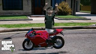 GTA 5 REAL LIFE CHILD MOD#11-MY NEW BIKE!