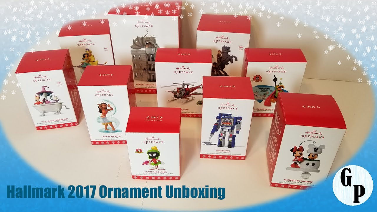 hallmark 2017 ornaments unboxing looney tunes harry potter disney and more - Hallmark Christmas Decorations 2017