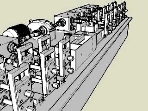 Roll Forming Machine Sketch Animation 3d Roll Forming