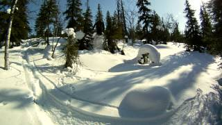 Backcountry skiing on Riisitunturi (2011)