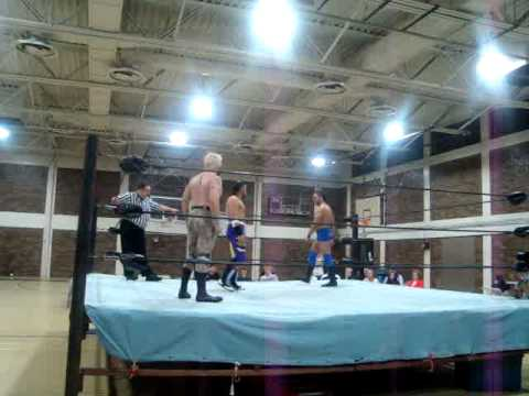 Romeo Razel Quevedo vs Dirty White Boy Vs Erick Stevens Ladder Match March 20,2010 Part 1