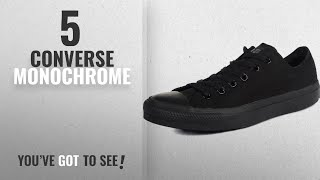 Top 5 Converse Monochrome [2018]: Converse Unisex Chuck Taylor All Star Low Top Black Monochrome