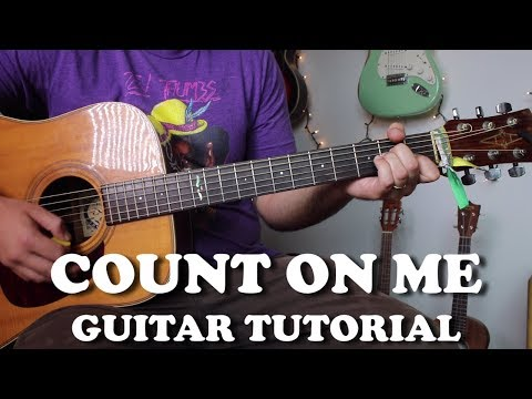 Count On Me - Bruno Mars - Super Easy Beginner Guitar Tutorial