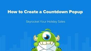 كيفية إنشاء العد التنازلي المنبثقة عن مبيعات العطلات