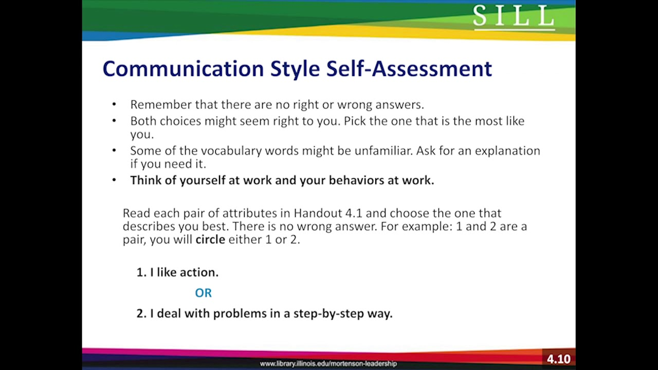 Communication Style Self Assessment