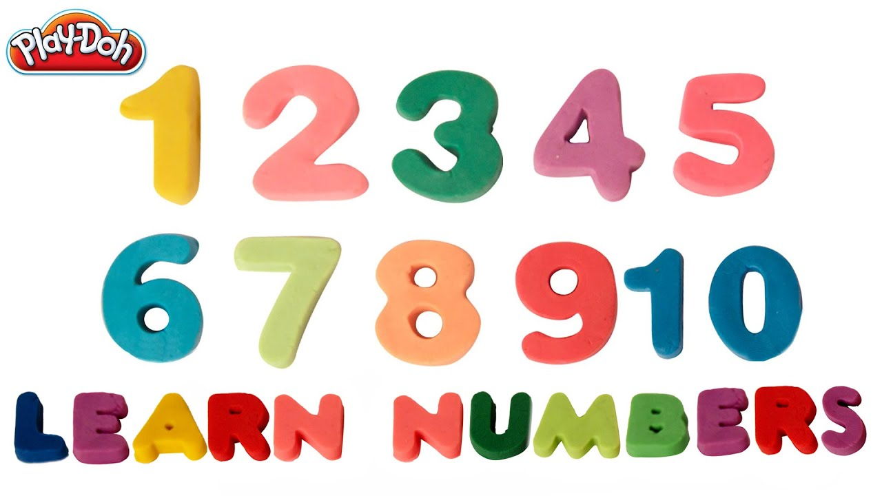 Printables Number Images 1-10 play doh numbers 1 to 10 number song learn kids rhyme
