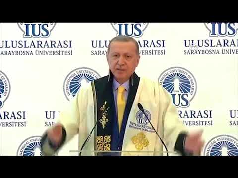 The President Mr Recep Tayyip Erdoğan with words of praise for IUS and Foundation