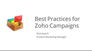 best practices for zoho campaigns