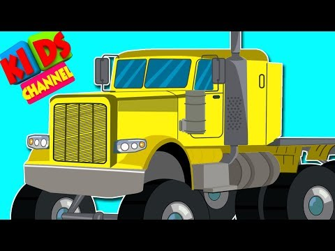 Kids Channel | Learning Colors with trucks | Color Video For Kids | Carstoon