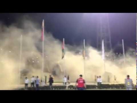 Bucaramanga vs. Valledupar,11-MAYO-2015, HIMNO DE SANTANDER, FORTALEZA LEOPARDA SUR 2015