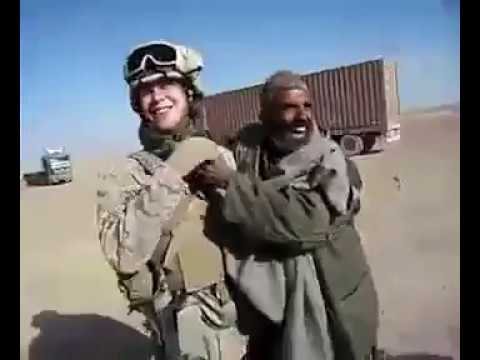 American soldier funny video with old afghan man