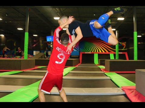 WWE MOVES AT THE TRAMPOLINE PARK 4