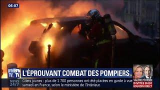 Mobilisation des gilets jaunes: les éprouvantes interventions des pompiers de Paris