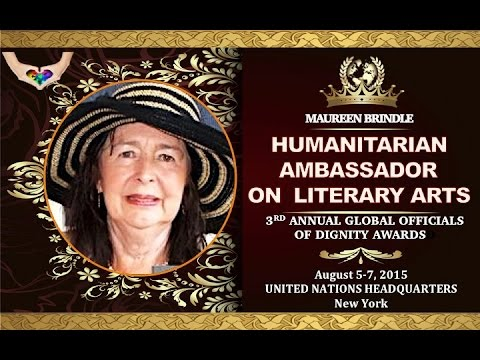 MAUREEN BRINDLE- HUMANITARIAN AMBASSADOR FOR LITERARY ARTS