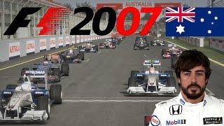 F1 2007 Saison Rennen 1 - Melbourne, Australien GP - Fernando Alonso (F1 2012 Mod Gameplay)