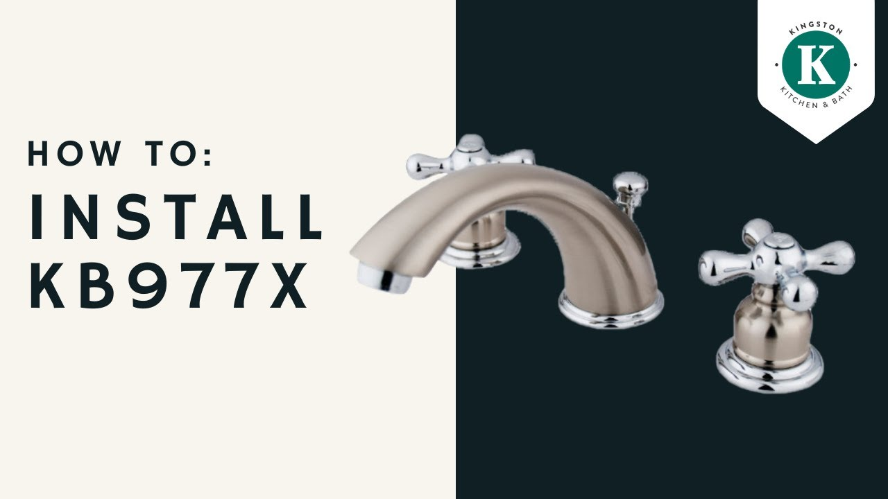 How To Install A Kingston Brass Kb977x Victoria Widespread Lavatory Faucet Youtube