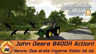 LANDWIRTSCHAFTS SIMULATOR 19 INGAME | John Deere 8400R Action! | FARMING SIMULATOR 19 GAMEPLAY [HD]