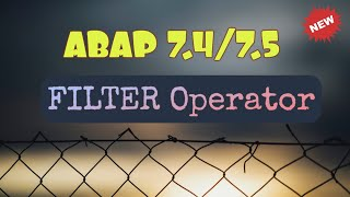 Abap 750 Filter Example