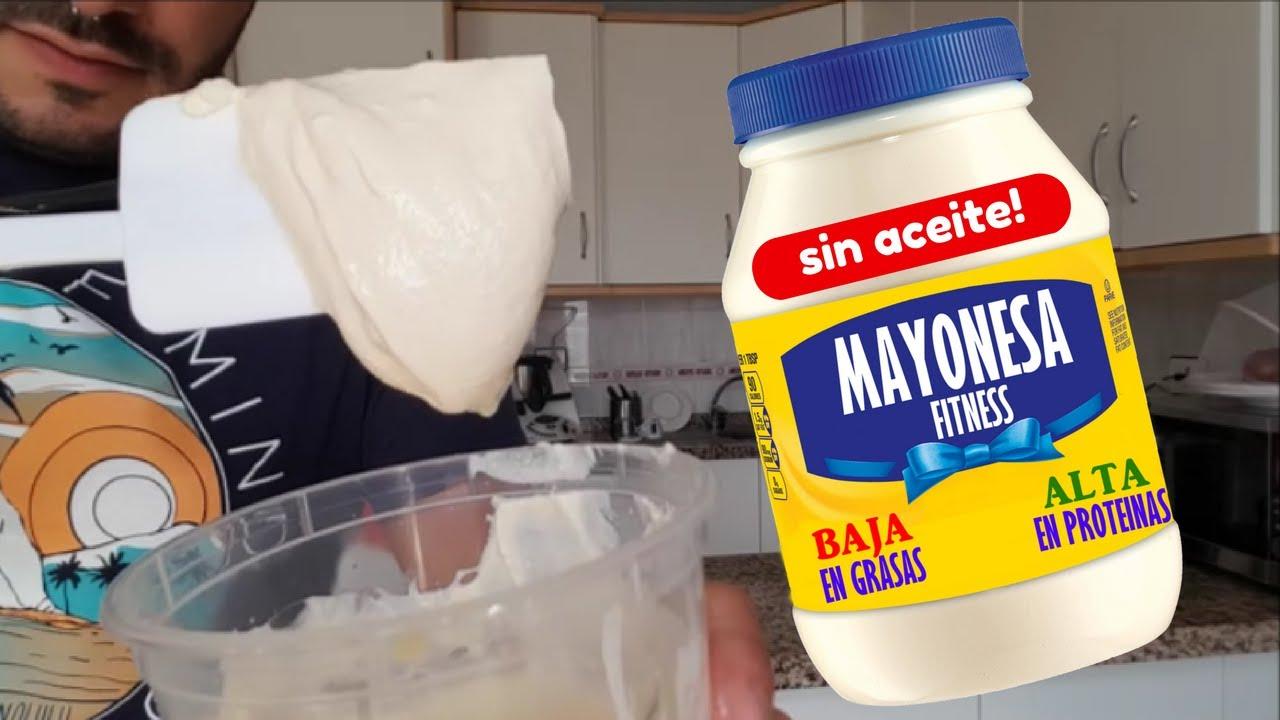 Con sin mayonesa aceite leche