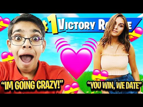 Download IF YOU WIN FORTNITE, I WILL DATE YOU! (With My Crazy Cousin N3ON & Dream Girl)
