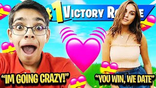 IF YOU WIN FORTNITE, I WILL DATE YOU! (With My Crazy Cousin N3ON & Dream Girl)
