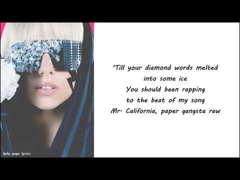 Lady Gaga - Paper Gangsta Lyrics