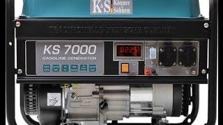 Однофазный бензиновый генератор Konner&Sohnen KS 7000(Купить такой генератор можно в нашем интернет-магазине http://energystore.com.ua/home/1169-generator-benzin-ks-7000-e.html., 2016-03-29T13:21:08.000Z)