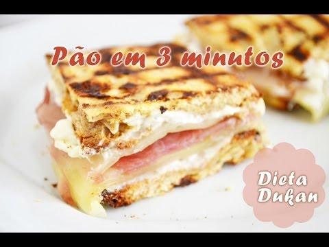 Pão em 3 minutos (todas as fases) | Dieta Dukan ♡ - Fe Bacci