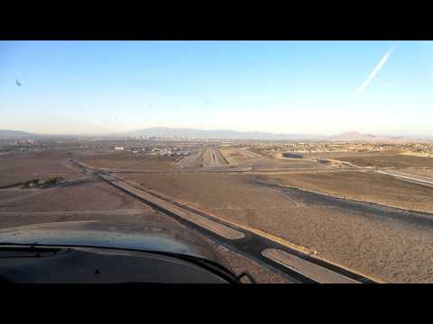 Approach and landing Henderson, Nevada - KHND
