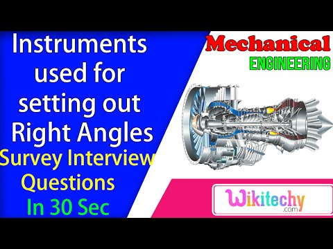 Instruments used for setting out right angles   Survey Interview Questions and Answers