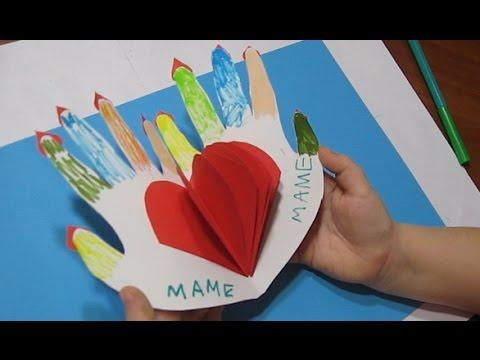 Как Сделать Подарок Маме Своими Руками! Поделки из бумаги с Маленькими Детьми Олеся♥DIY♥