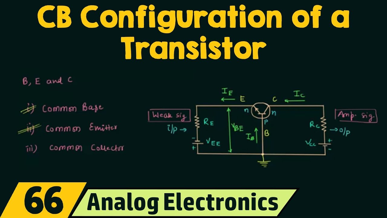 common base configuration circuit diagram atwood water heater switch wiring of a transistor youtube