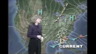 1993 Blizzard on the US East coast and Eastern Canada on WCAX Burlington and TVA Montreal.