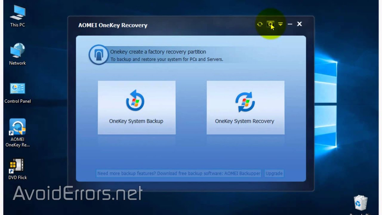 restore windows 7 to factory settings from recovery partition