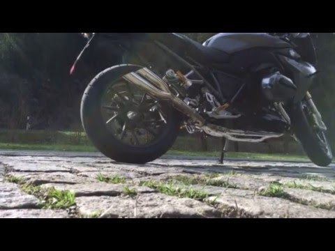 Build Your BMW >> Cobra Powershots exhaust BMW R1200 RS 2015 - YouTube