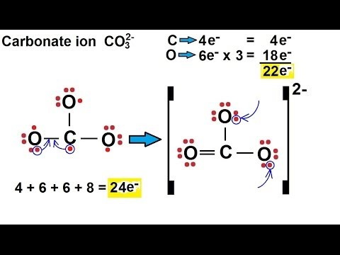 Chemistry - Chemical Bonding (21 of 35) Lewis Structures for Ions - Carbonate Ion - CO3(2 ...