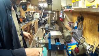 harbor freight mill drill lathe first time fly cutting