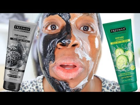 Freeman Face Mask Vs. Freeman Face Mask! Battle Of The Cucumber Vs Volcanic Ash Peel-Off Mask