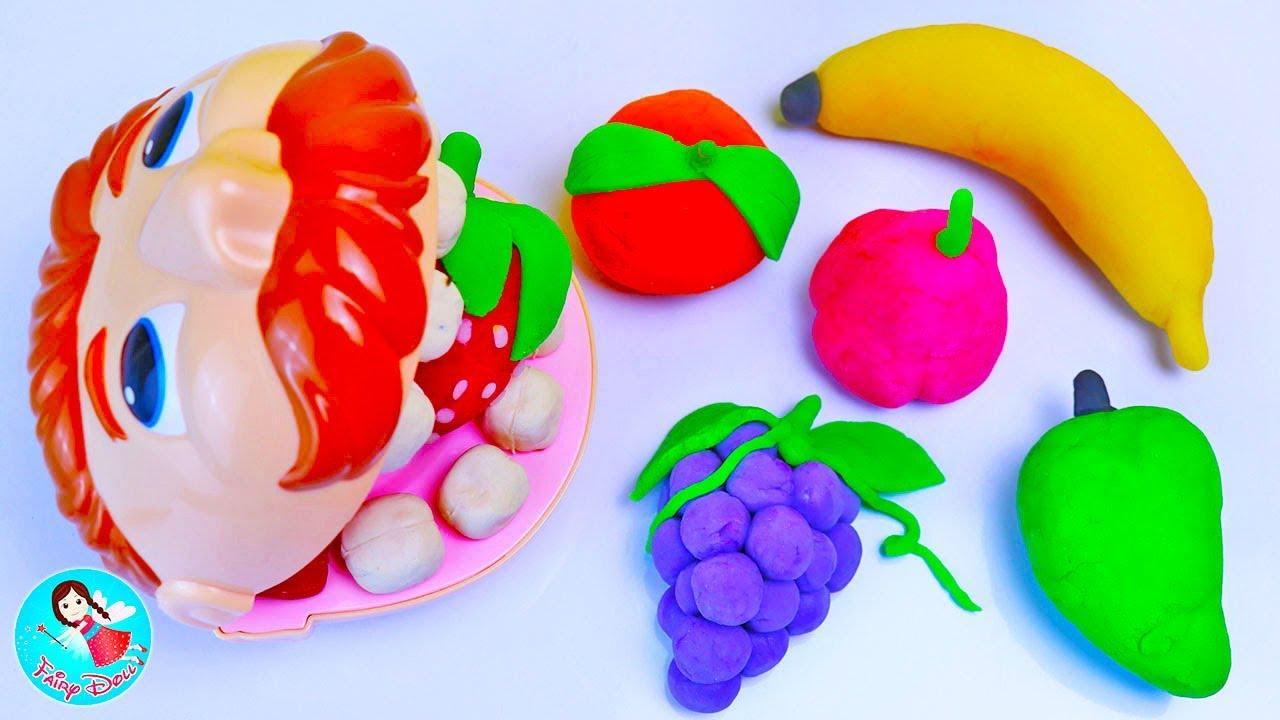 ปั้นแป้งโดว์ ผัก ผลไม้ เรียนรู้ชื่อผักผลไม้ สอนปั้นดินน้ำมัน Play Doh