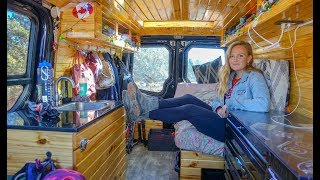 Vanlife Tour | This Gorgeous DIY Van Conversion Costs Less Than You Think