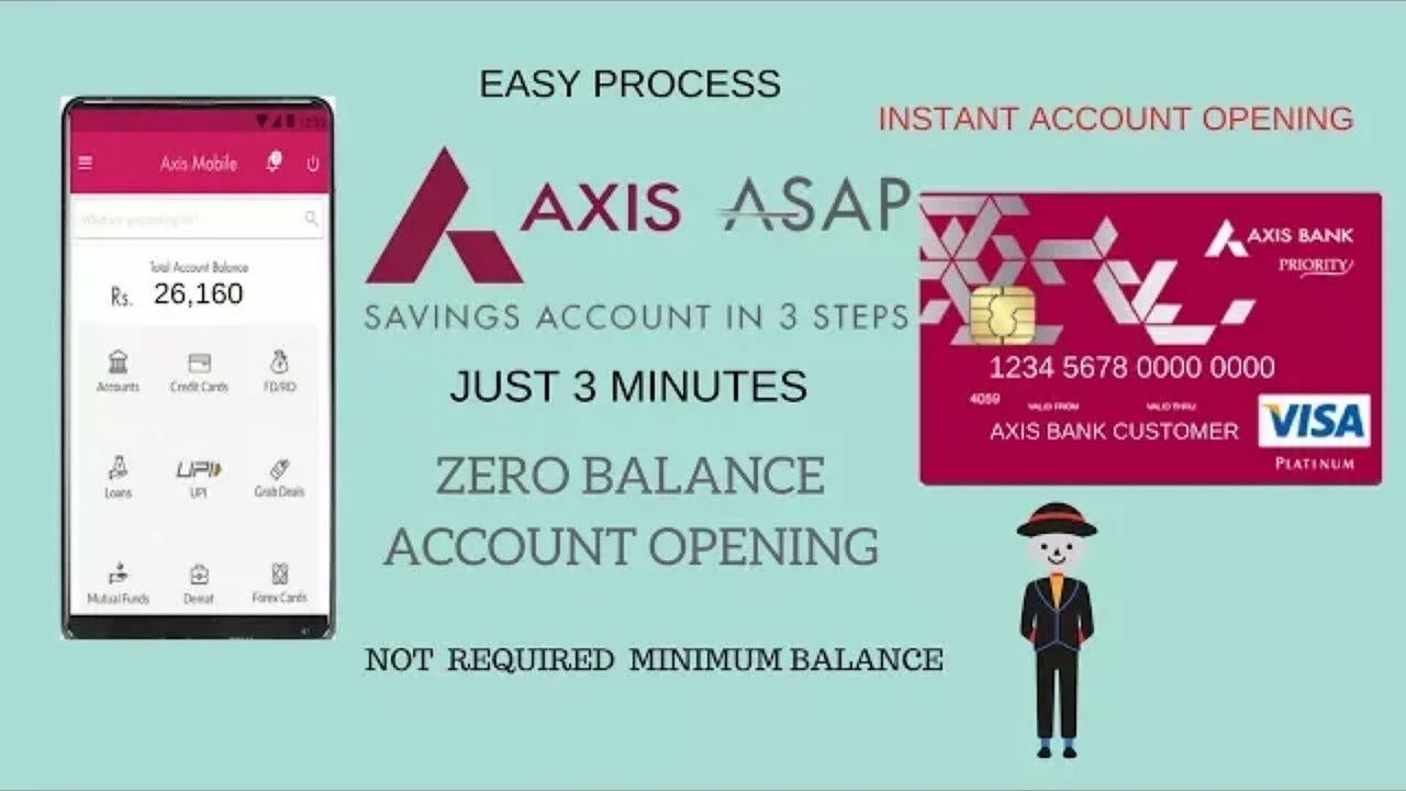 How To Open Axis Asap Account Online Zero Balance Instant Axis bank Account opening