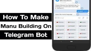 Wie Erstellen Sie Bot Im Telegramm Ohne Programmierung Mit Bot-Konstruktor Menu Builder-Bot, bot-Taste
