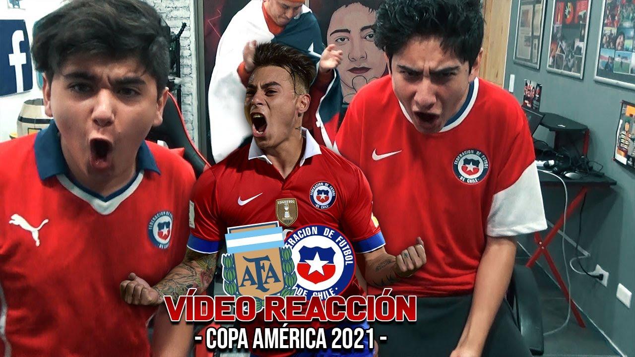 ARGENTINA VS CHILE - empatamos gracias a VARgas - VIDEO REACCION