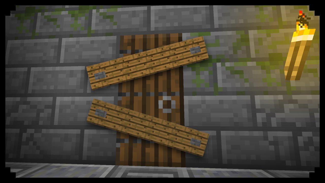 Minecraft: How to make Barricades - YouTube
