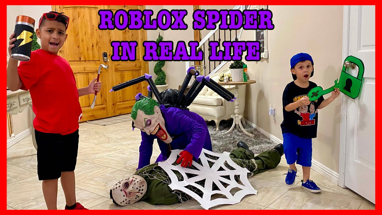 ROBLOX SPIDER IN REAL LIFE | DEION'S PLAYTIME