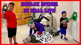 ROBLOX SPIDER IN REAL LIFE   DEION'S PLAYTIME