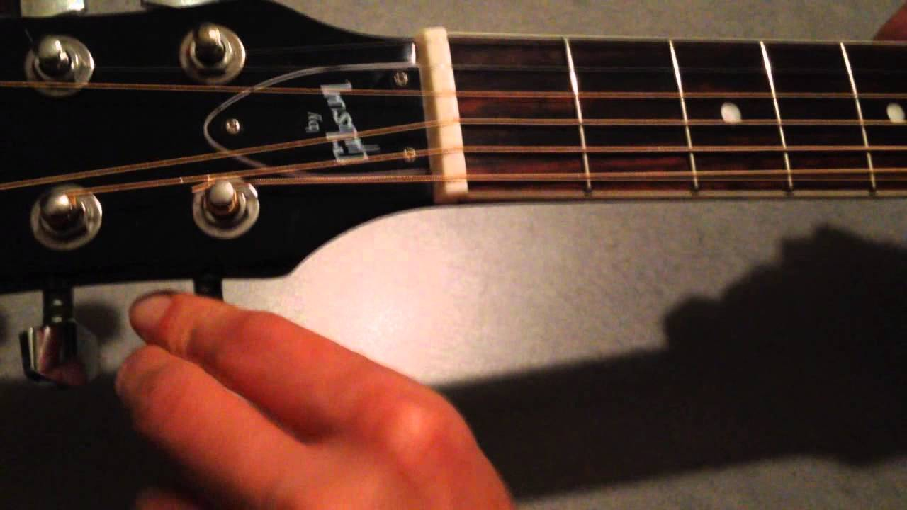 how to change an acoustic guitar string youtube. Black Bedroom Furniture Sets. Home Design Ideas