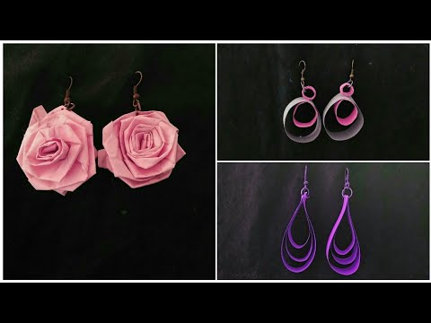 How to Make Paper Quilling jhumkas or earring easy method ||