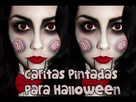 Maquillaje para halloween caras pintadas youtube for Caras pintadas para halloween